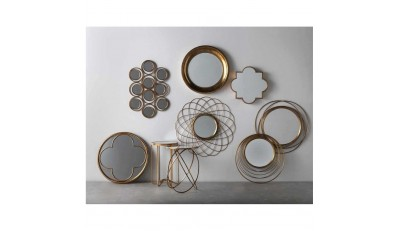 Espejos redondos, cuadrados, rectangulares, vintage, acabado plata, oro, metalizados, en madera.