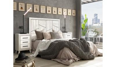 Conjuntos de cabeceros mas mesitas a juego para dormitorio de matrimonio, en los estilos más actuales. En madera con acabados naturales como el roble y el blanco