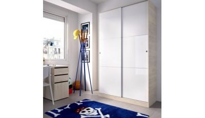 Armarios de dos y tres puertas correderas y abatibles con cajoneras interior y barreta de gran capacidad economicos.