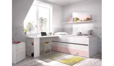 Camas completas, cabeceros juveniles, camas nido, camas compacto en madera y tapizados a un precio económico