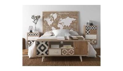Muebles para el dormitorio, cabeceros originales tipo industrial, moderno y vintage. Mesitas, cómodas, sinfonier y armarios de puertas correderas y abatibles.