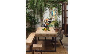 Bancos para sentarse en madera y estilo industrial, para bares y comedores y cocinas de estilo industrial y rústico