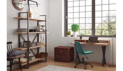 Mesas de despacho y oficina, estanterías para despacho y archivadores, sillas de confidente, sillas giratorias, sillas de estudio.